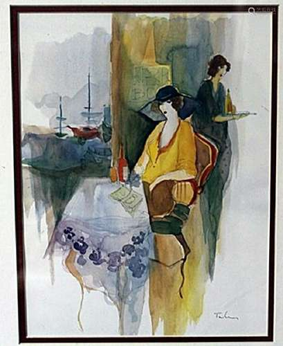 """""""SITTING BY THE WINDOW"""" by ITZCHAK TARKAY"""