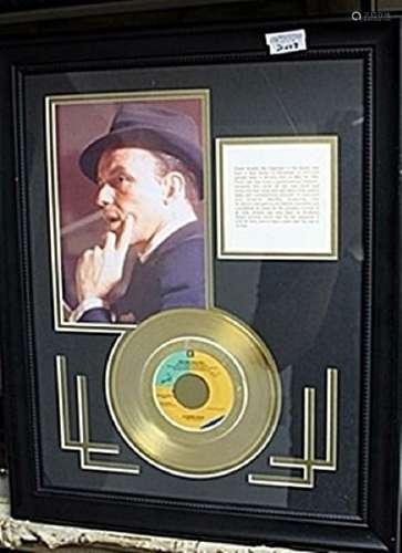 Frank Sinatra Giclee & Gold Album AR5709