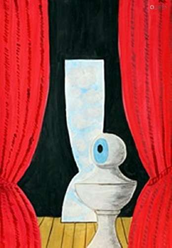 The Eye - Rene Magritte - Watercolor On Paper