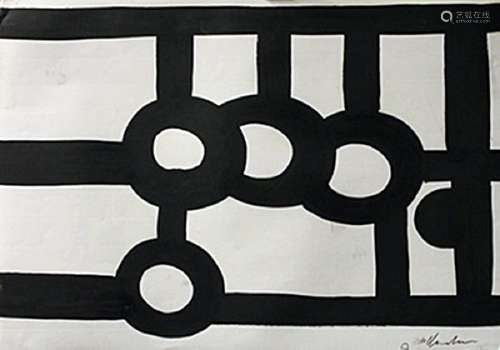 Chillida - Oil On Paper