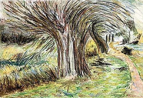 The Tree In The Way - Armand Guillaumin - Pastel On