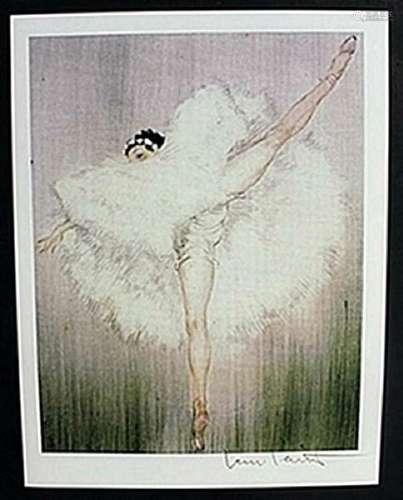 "Lithograph ""Ballet Dance Girl""  Louis Icart"