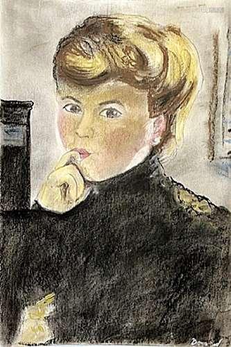Portrait Of Lucette - Pierre Bonnard - Pastel On Paper