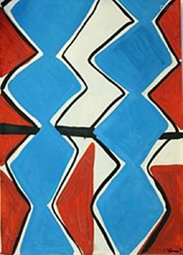Composition - Sandra Blow - Oil On Paper