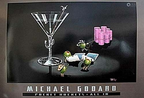"""Pocket Rockets-All In""   Michael Godard"