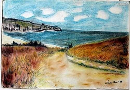 Pastel Painting on Paper -  Claude Monet