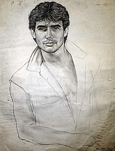 Portrait Of Jousue - Henry Scott Tuke - Drawing On