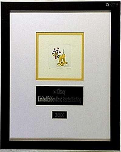 Licenced Disney Etchings   Pluto