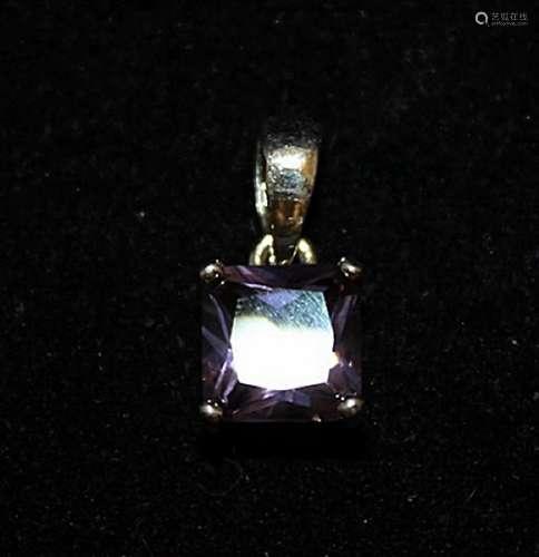 Beautiful Amethyst Silver Pendant (52P)