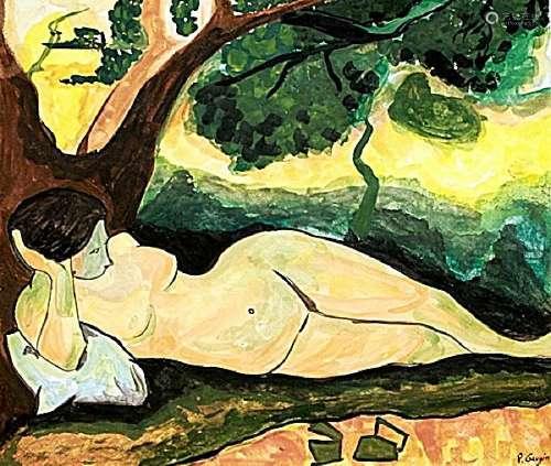 Nude Study - Paul Gauguin - Watercolor