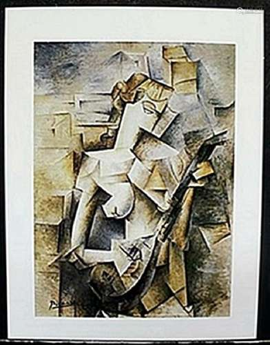 """Lithograph """"Lady with a Madoline""""  Pablo Picasso"""