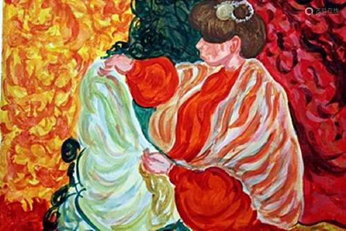 Woman - Louis Valtat - Watercolor On Paper