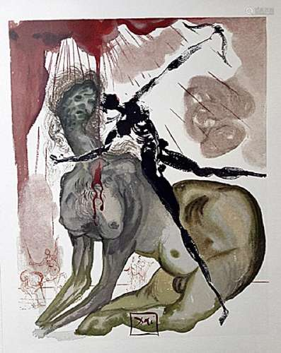 Dali - Hell Canto 12 - The Divine Comedy