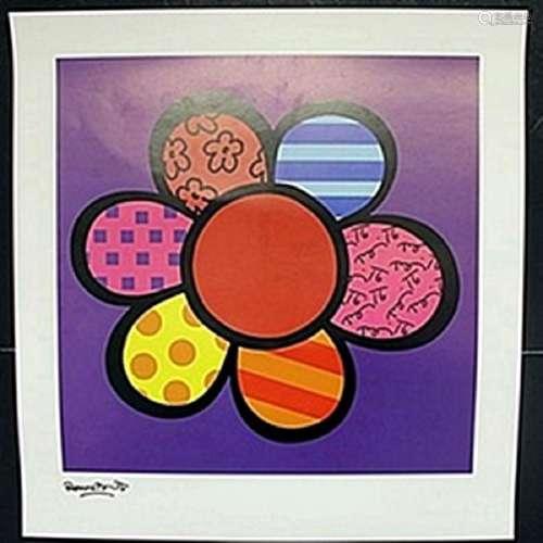 "Print ""Flower Power III""  Romero Britto"