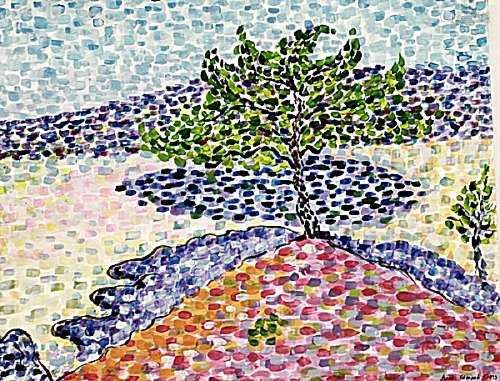 The Pine - Henri Edmond Cross - Watercolor