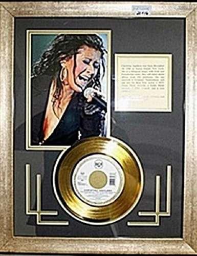 """Christina Aguilera Giclee & Bio with Gold Album """"Come"""