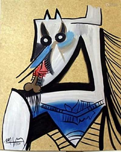 Oil Painting on Paper -  Wilfredo Lam