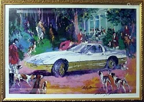 """Authentic Lithograph """"Rendezvous a La Corvette""""  LeRoy"""