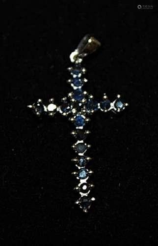Dazzling Sapphire Silver Pendant (46P)
