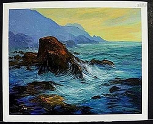 "Lithograph ""High Tides""   Michael Schofield"