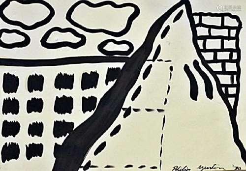 Oil On Paper - Philip Guston