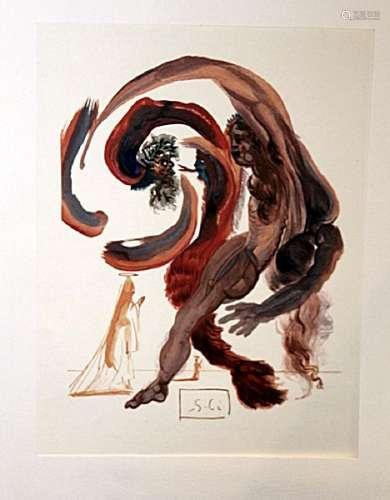 Dali - Purgatory Canto 18 - The Divine Comedy