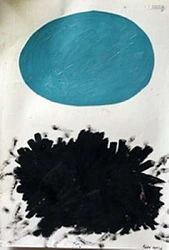 The Flower - Adolph Gottlieb - Oil On Paper