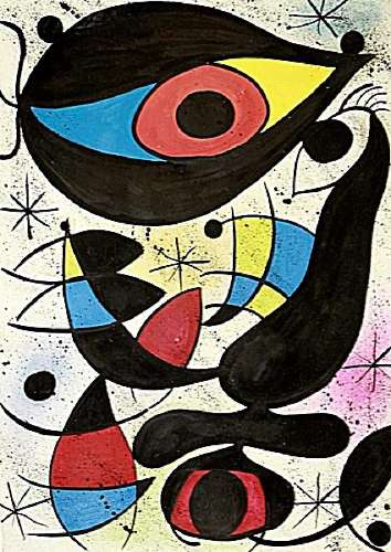Infinity - Joan Miro - Oil On Paper
