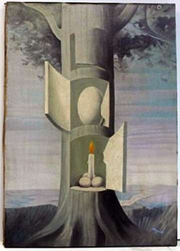 Oil Painting on Canvas -  Rene Magritte