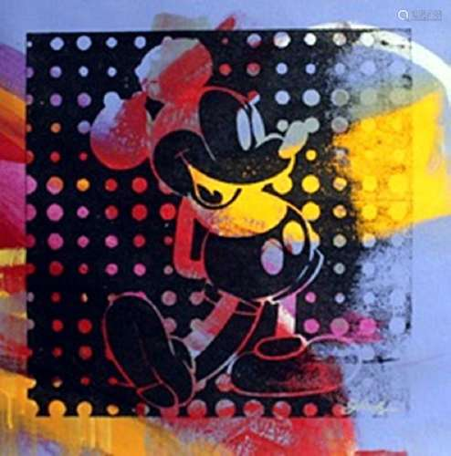 "Original Acrylic on Canvas ""Negative Mickey IV"" By Gail"