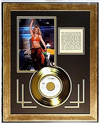 Britney Spears  Giclee with Gold Record