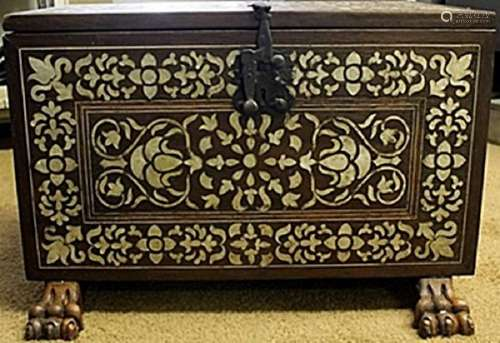 Hand Carved Antique Peruvian Cabinet of Mother Pearl
