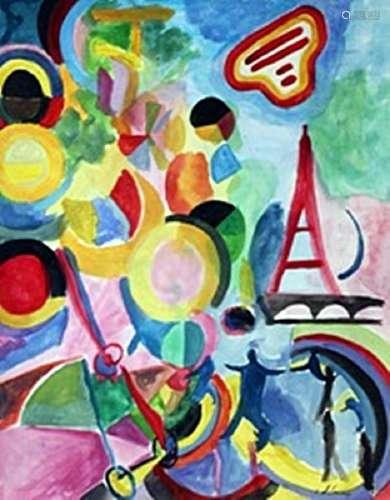 Paris - Robert Delaunay - Watercolor On Paper