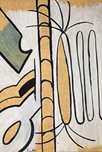 Serpentins - Francis Picabia- Oil On Paper
