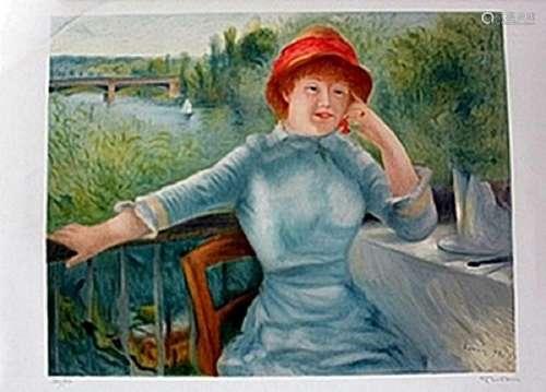 Lithograph  Renoir.