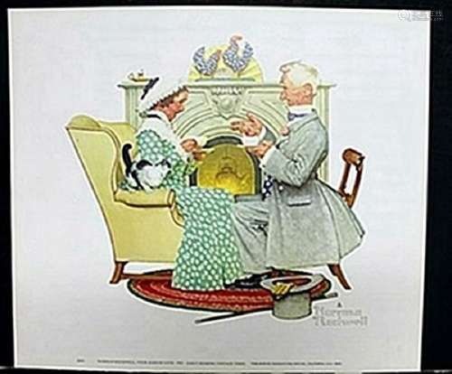 """Lithograph """"Four Years of Love""""  Norman Rockwell"""