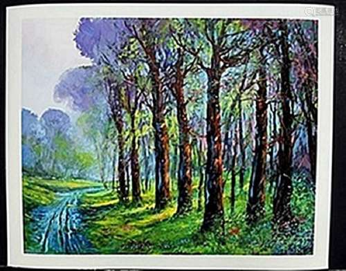 "Lithograph ""Dirt Road""  Michael Schofield"