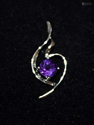 Gorgeous Amethyst Silver Pendant (33P)