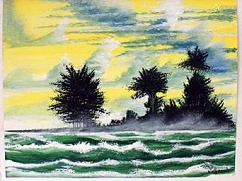 """Rapid Waters"" Original Oil Painting -  William Verdult"