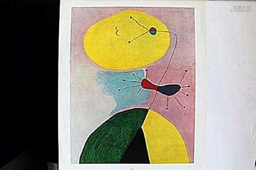"""Portrait 1938"" Print after Joan Miro."