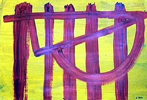 Verticales - Antoni Tapies - Oil On Paper