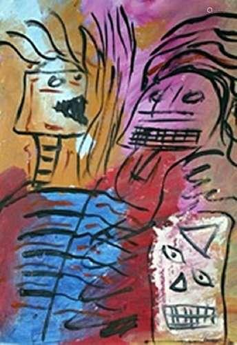 The Boys - Lucebert - Oil On Paper