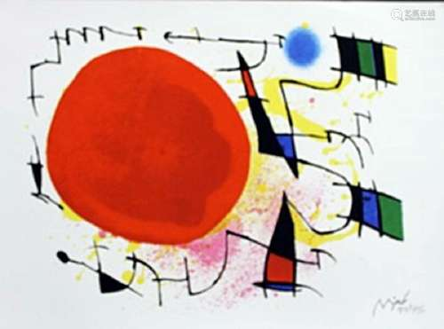 Lithograph By Joan Miro