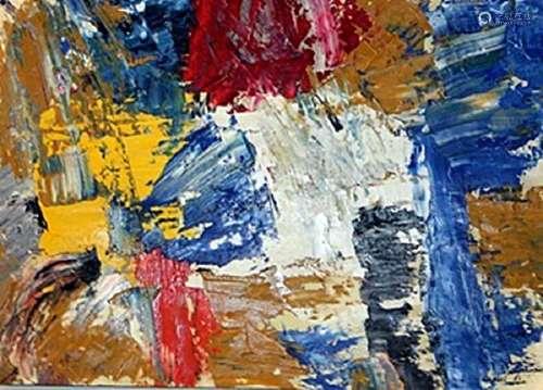 The Wall - Michael Goldberg - Oil On Paper