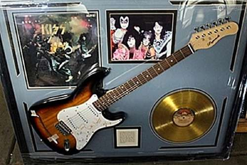Kiss Signed Guitar & Memorabilia