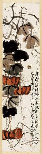 齐白石(1864~1957) 1944年作 旧舍垂藤 立轴 纸本