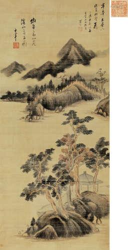 董其昌(1555~1636) 仿北苑溪山亭子图 立轴 绢本