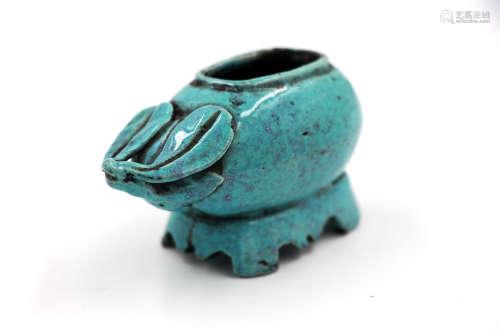 清 炉钧釉瓜型水盂