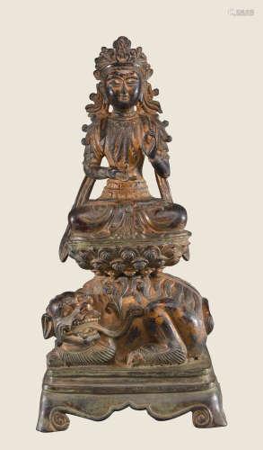铜胎漆金佛造像