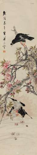 朱梦庐(1826~1900) 武陵春色 立轴 设色纸本